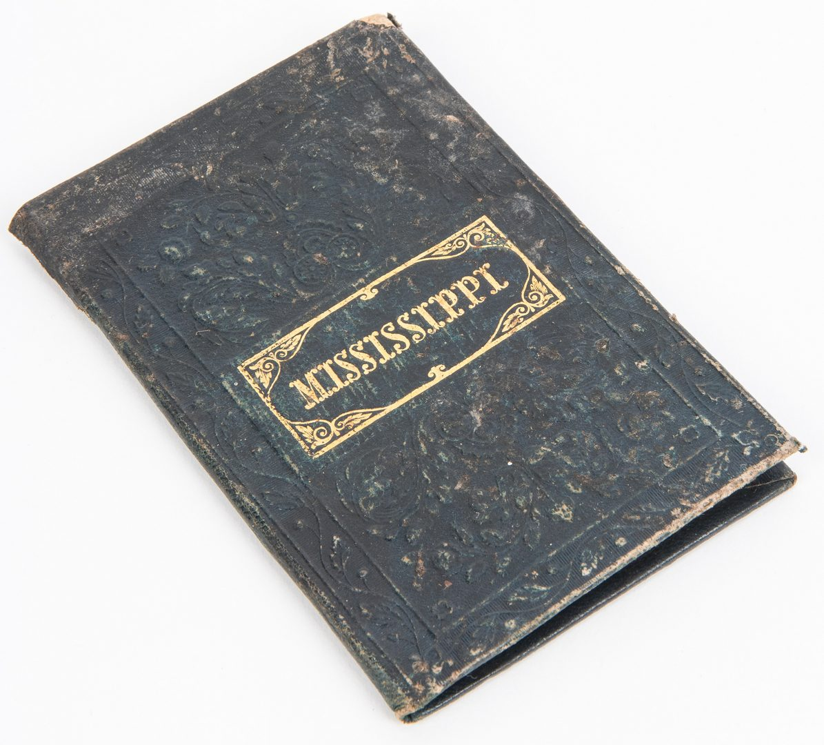 Lot 282: Mitchell 1846 Pocket Map of MS