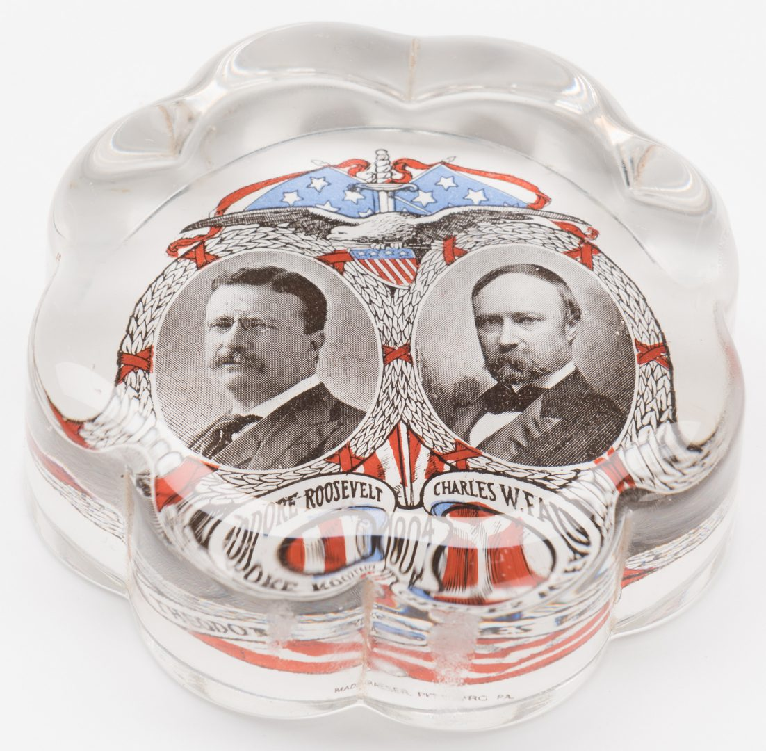 Lot 283: 6 Campaign Collectibles, 2 Trays & 4 Paperweights