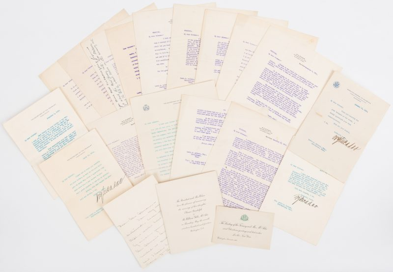 Lot 288: 16 William Gibbs McAdoo TLS, 19 items total