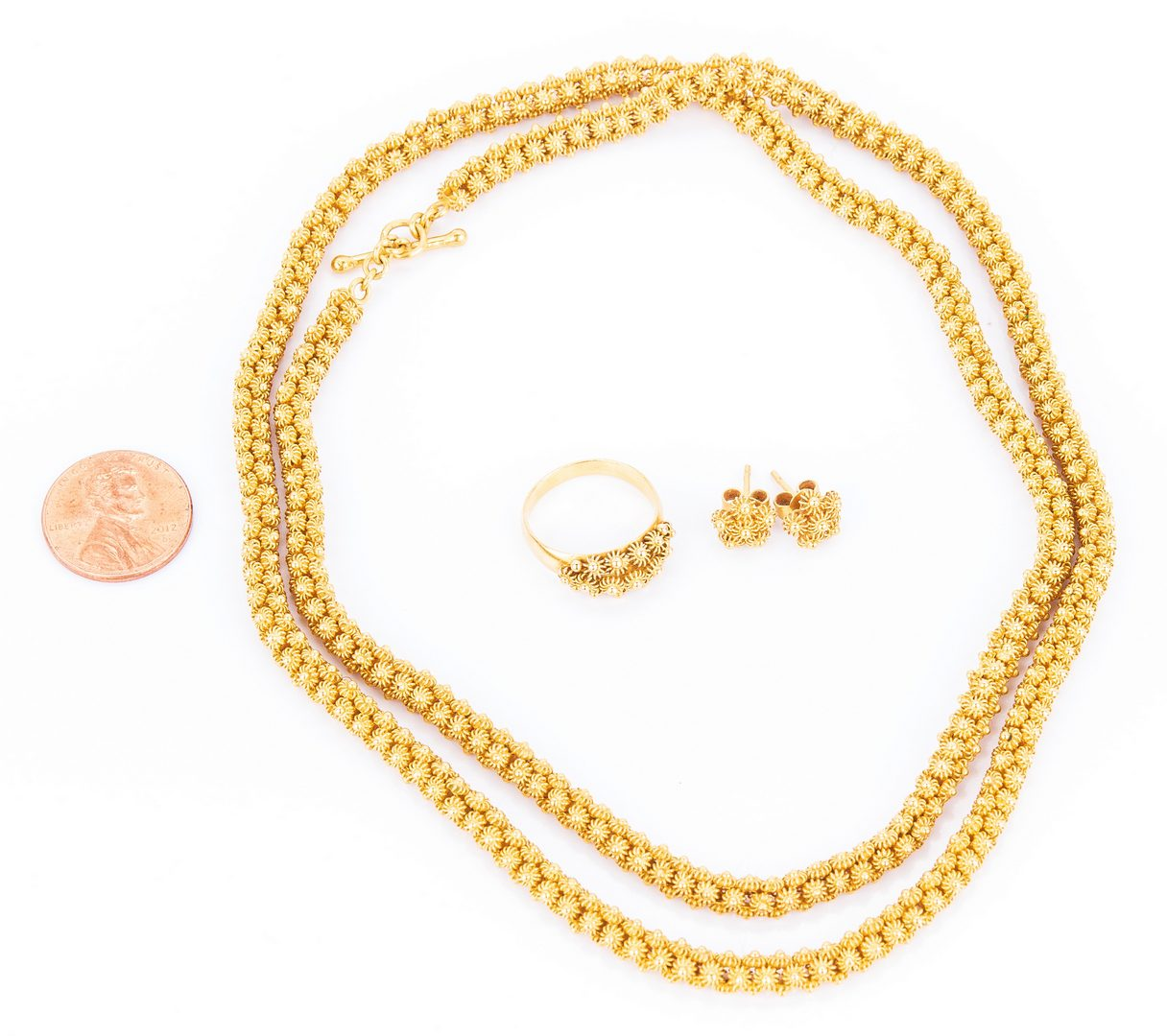 Lot 28: Set 22K Gold Jewelry, 79.2 grams