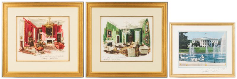 Lot 295: 3 John F. Kennedy Christmas Cards