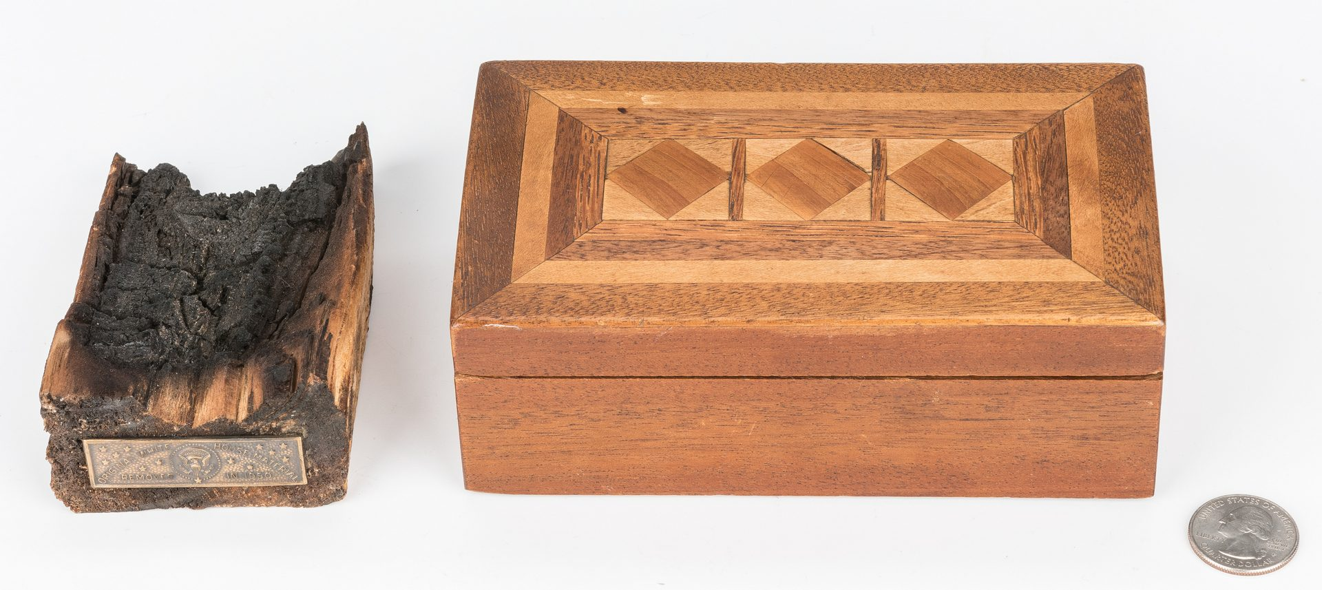 Lot 296: War of 1812 White House Artifact & Custom Box