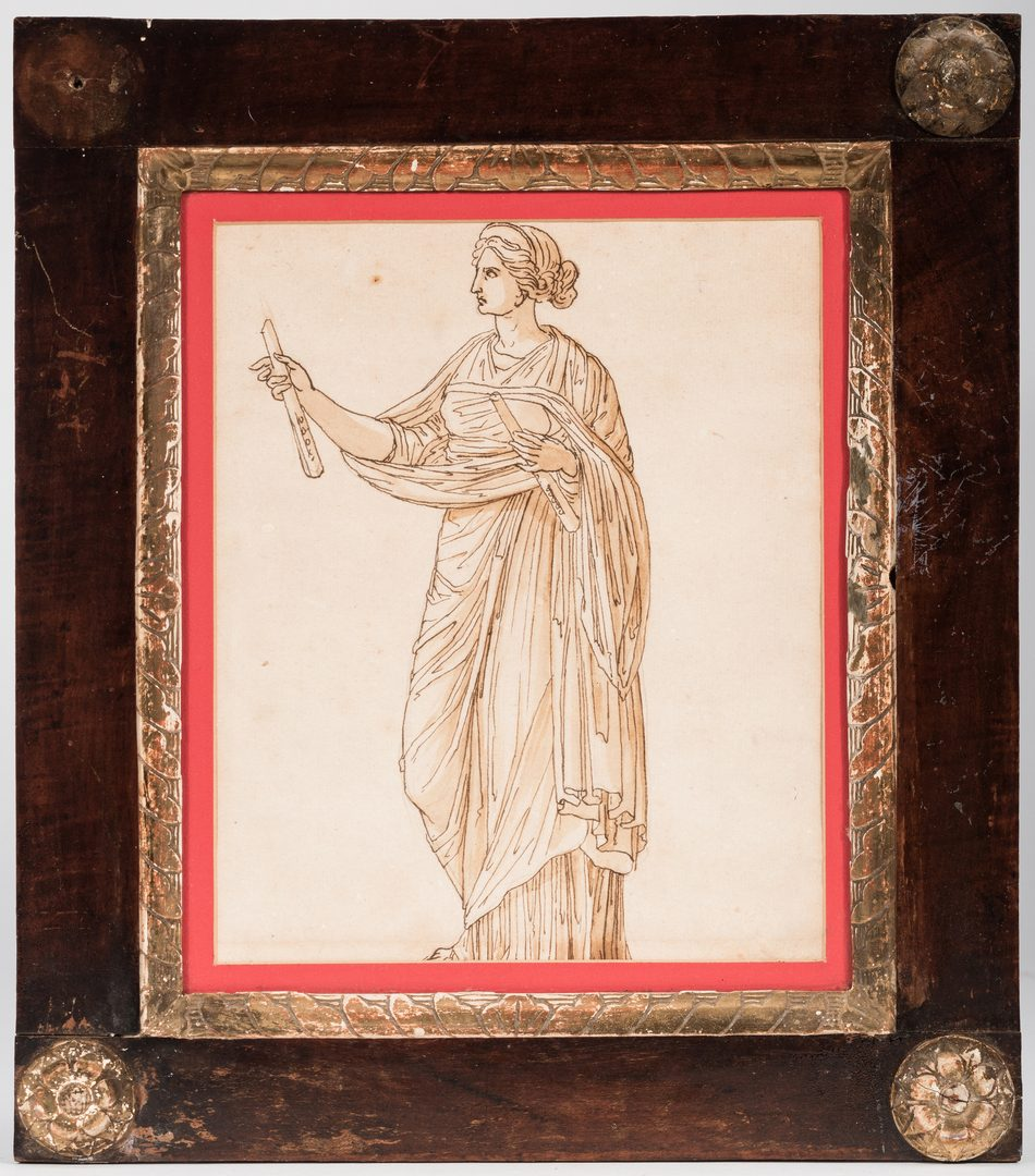 Lot 299: 4 Drawings of Classical Statues