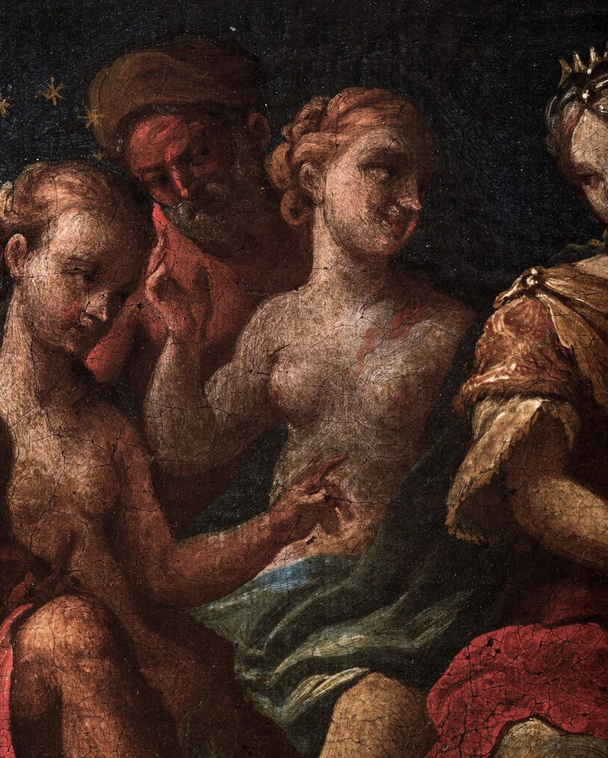 Lot 301: Old Master Mythological O/C, Crowning of Aphrodite