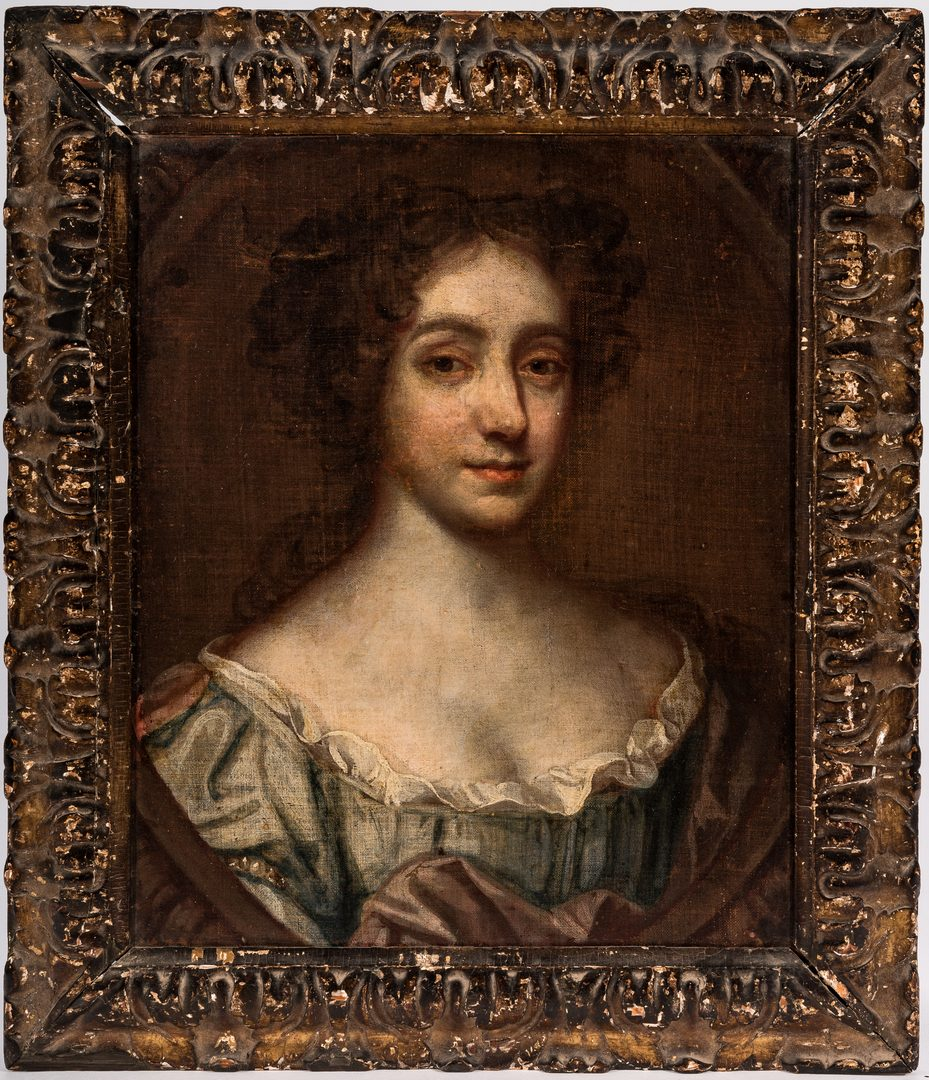 Lot 302: Follower of Sir Peter Lely, Portrait of Nell Gwynn