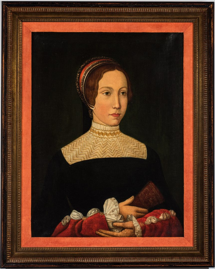 Lot 304: After Jean Perreal, O/C, Portrait of A Lady