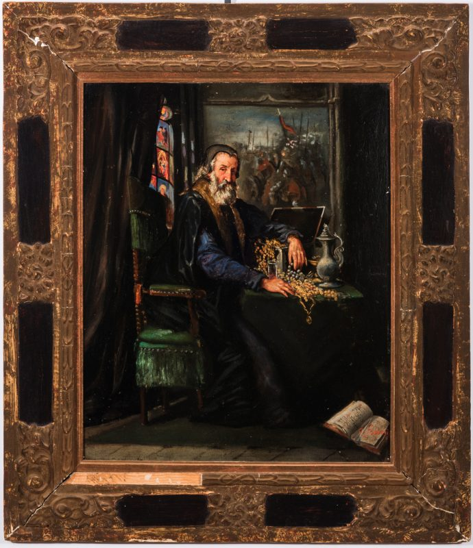 Lot 307: Signed O/B Portrait of Shylock