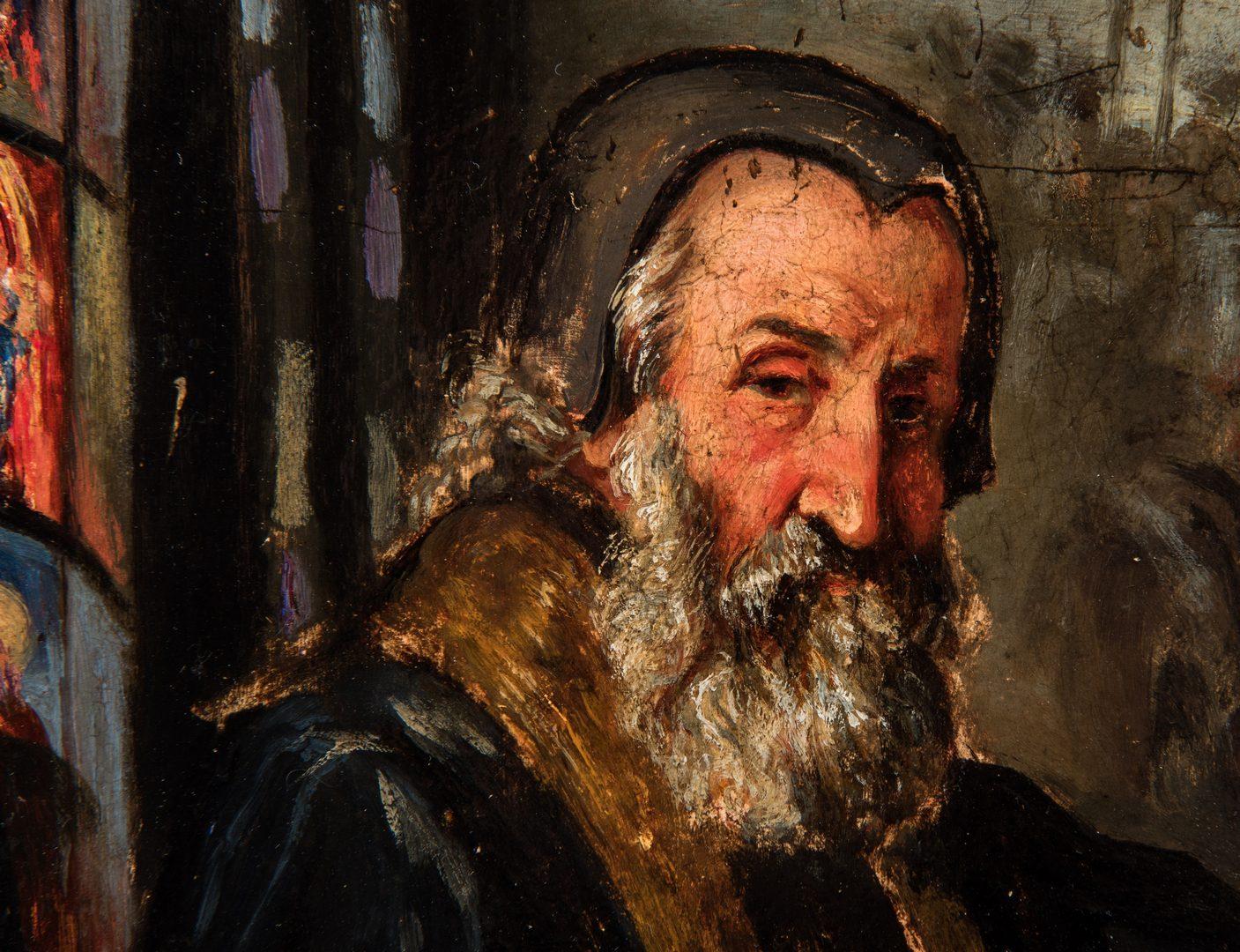 Lot 307: Signed O/B Portrait of Shylock