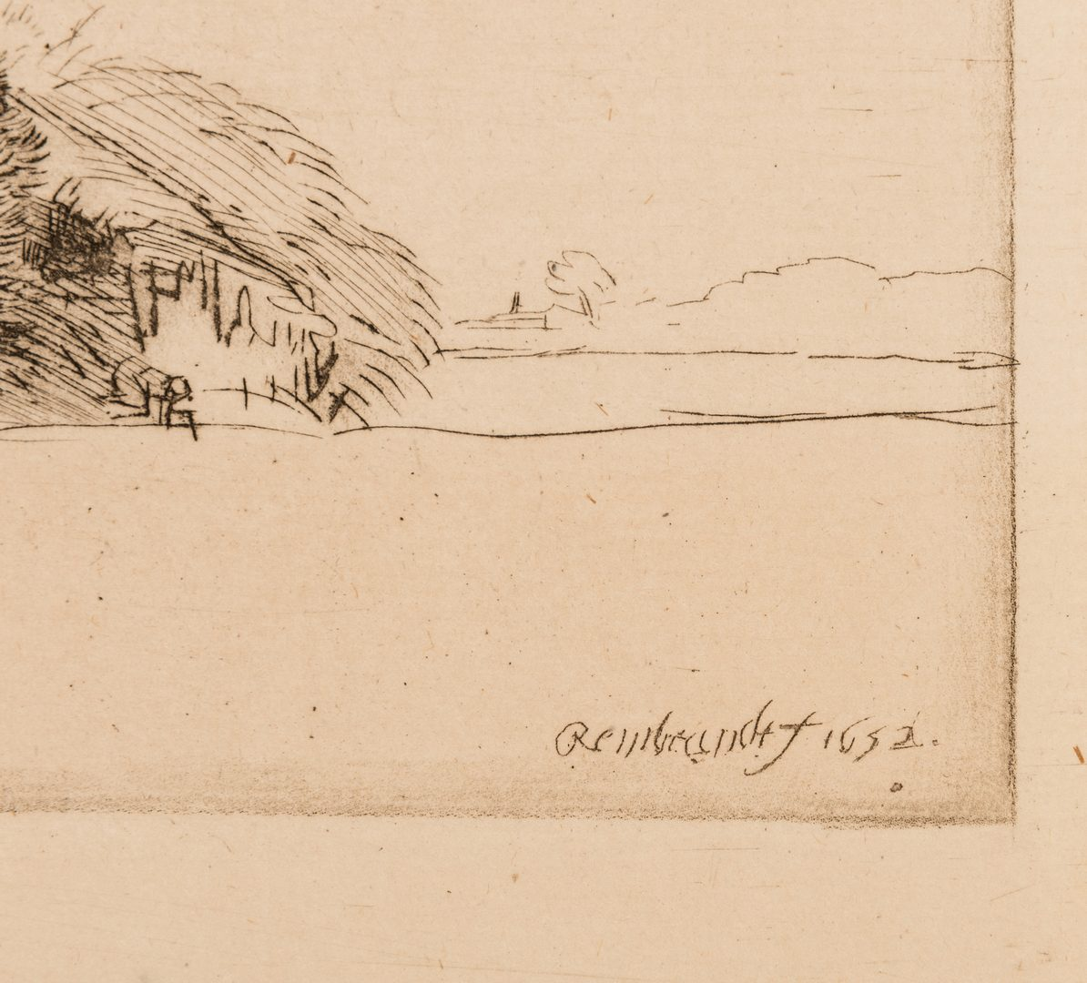 Lot 308: After Rembrandt, 7 Amand Durand Landscape/Allegorical Heliogravures, 19th cent.