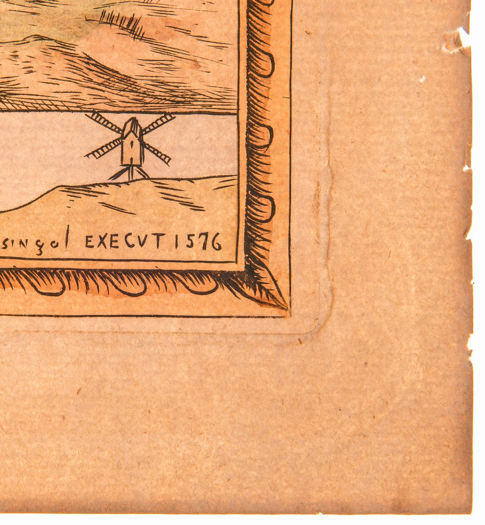 Lot 310: European Prints, inc. Paris Map