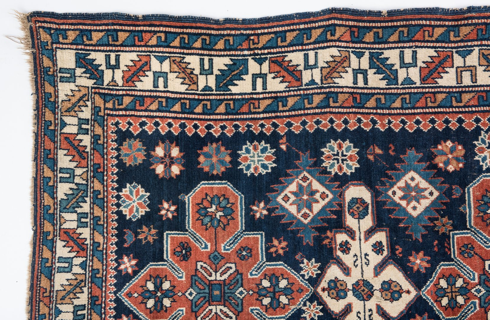 Lot 323: Antique Caucasian Kazak Area Rug