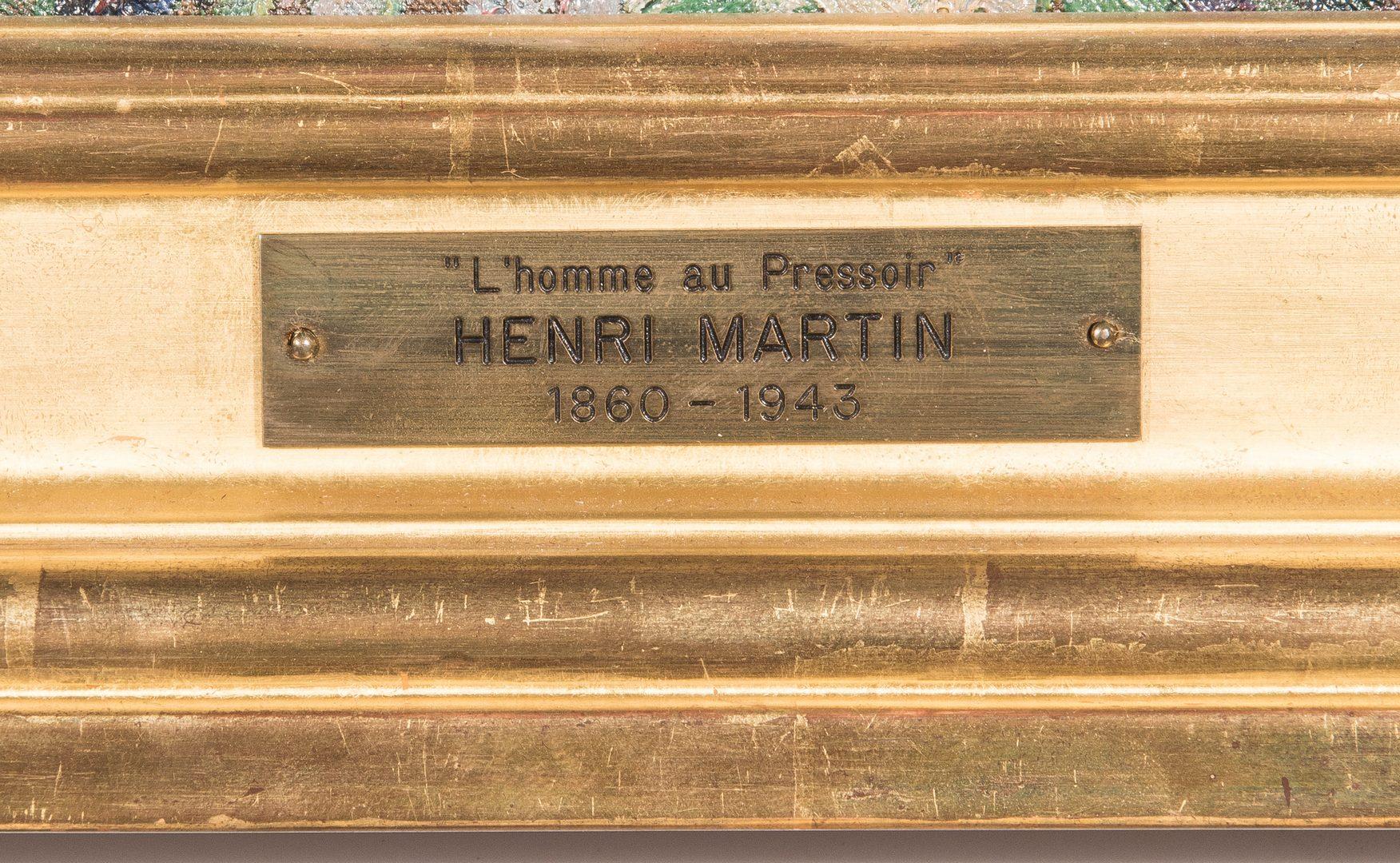 Lot 328: Henri Jean Guillaume Martin O/C, L'Homme au Pressoir