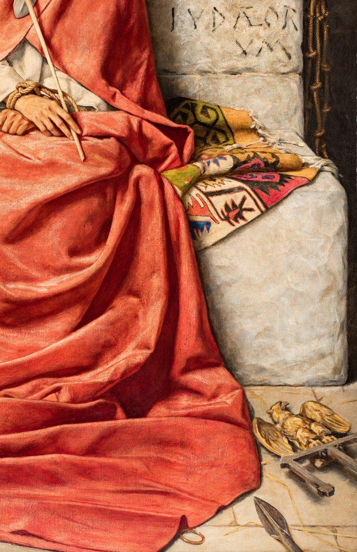 Lot 329: William Shakespeare Burton oil, King of Sorrows