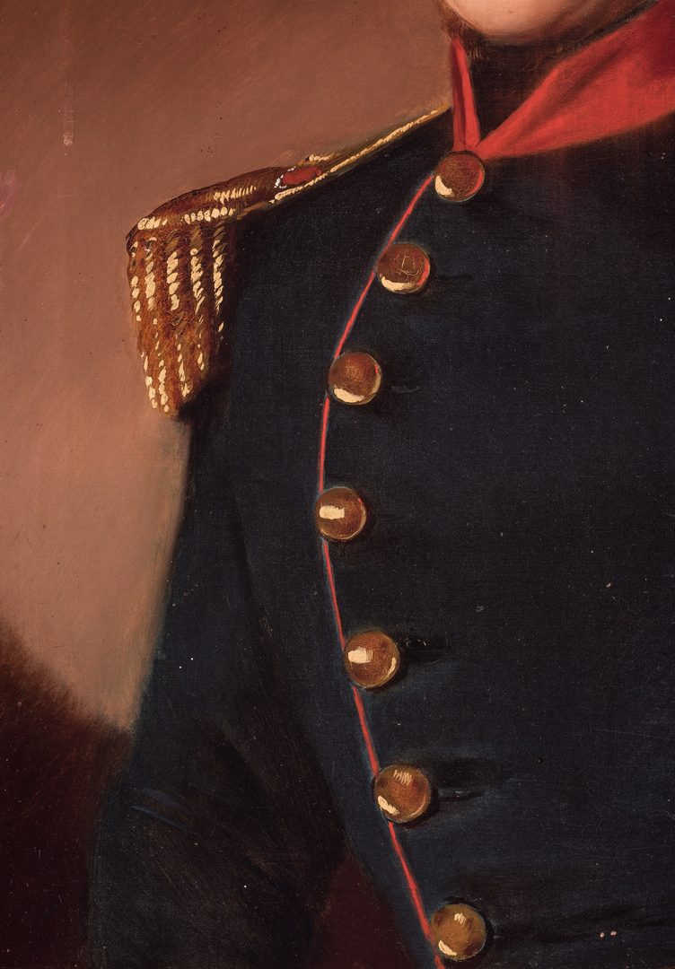 Lot 335: European O/C Portrait of an Officer