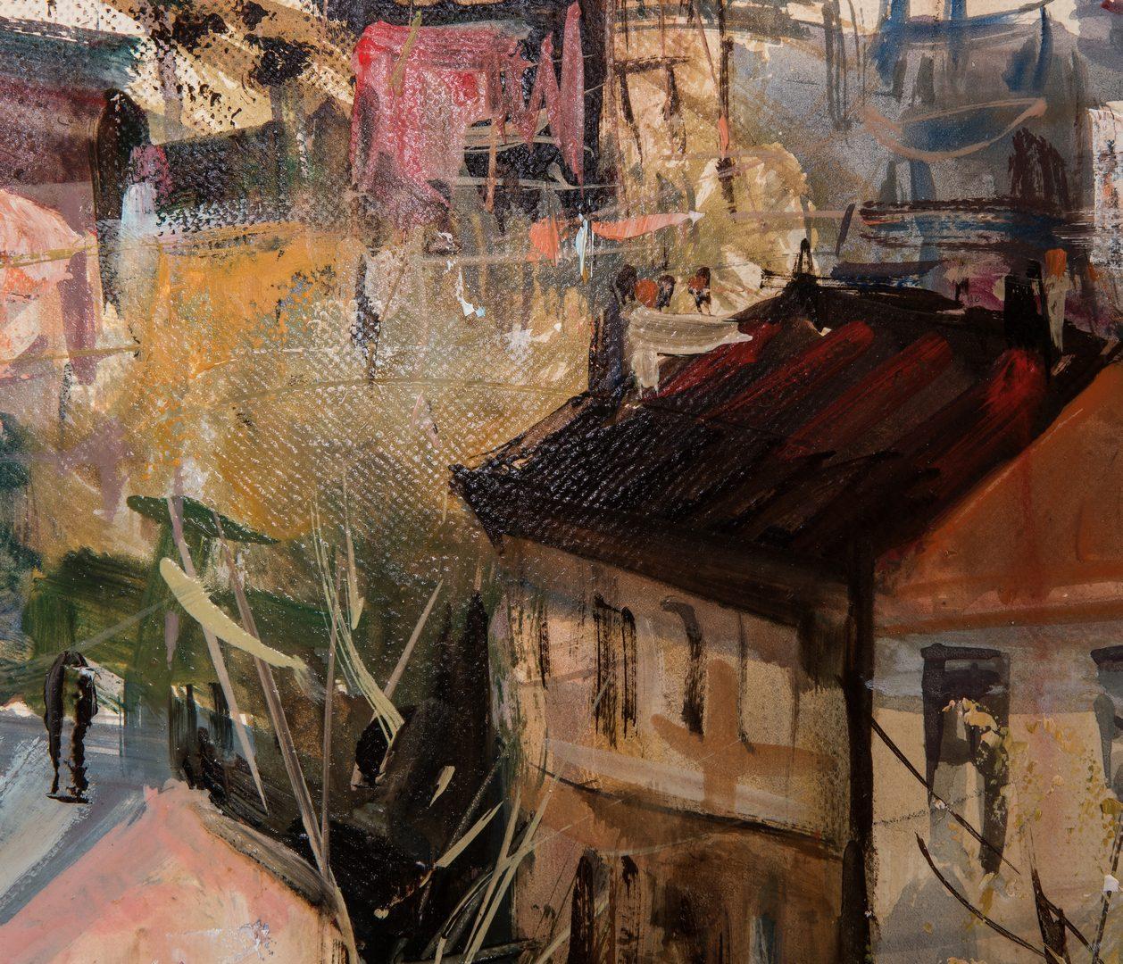 Lot 340: Lucien Delarue O/C, Coastal Town