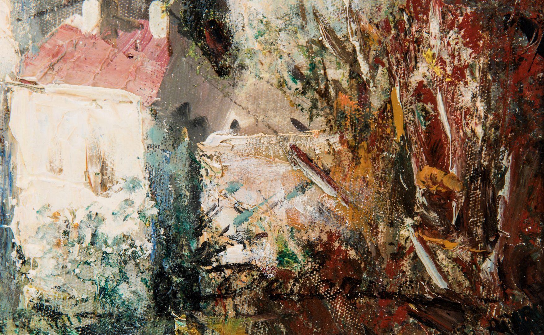 """Lot 341: Lucien Delarue Oil, """"Porte d'Eze"""""""