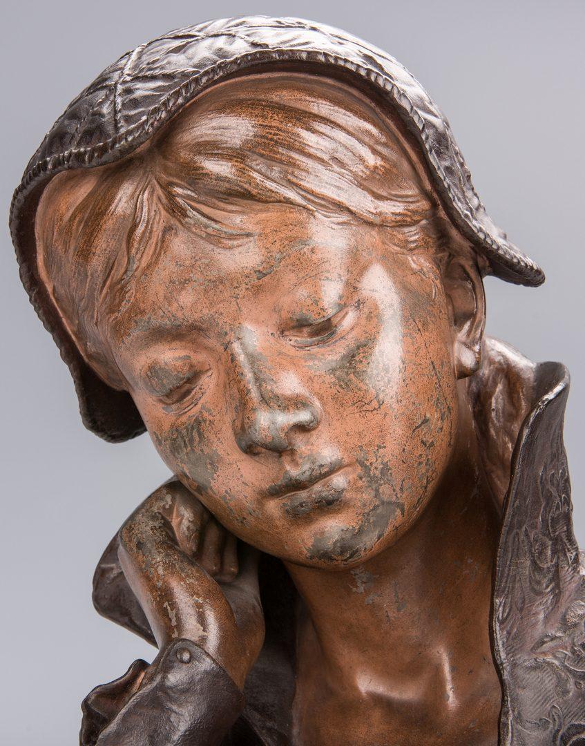 Lot 342: Louis Hottot Sculpture, Young Girl Reading