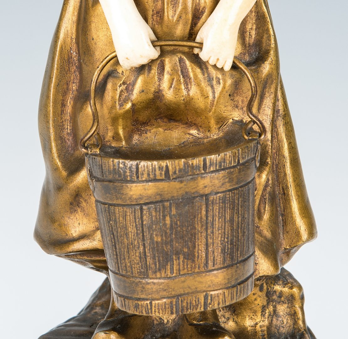 Lot 343: Bronze Figure, T. Somme