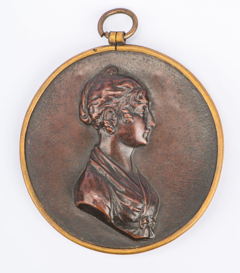 Lot 347: 4 European portraits and medallions