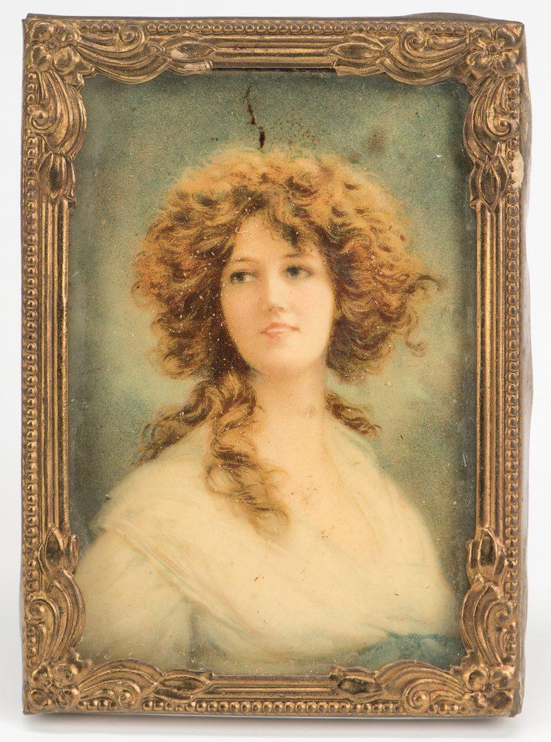 Lot 348: 4 miniature portraits, inc. C.J. Fox
