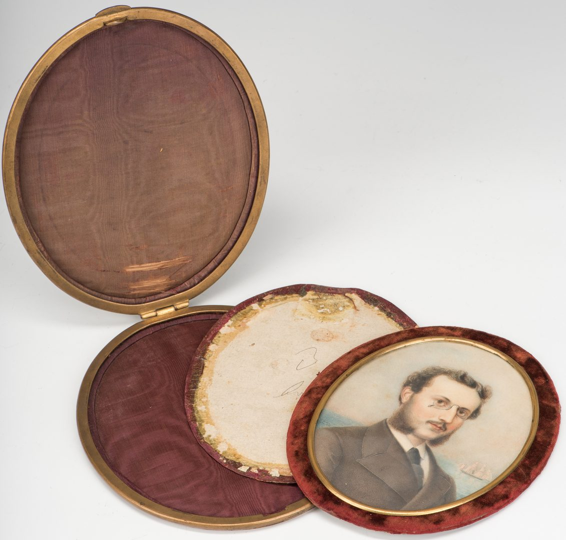Lot 349: Attr. Theodor Rabe, Miniature portrait, possibly a ship captain