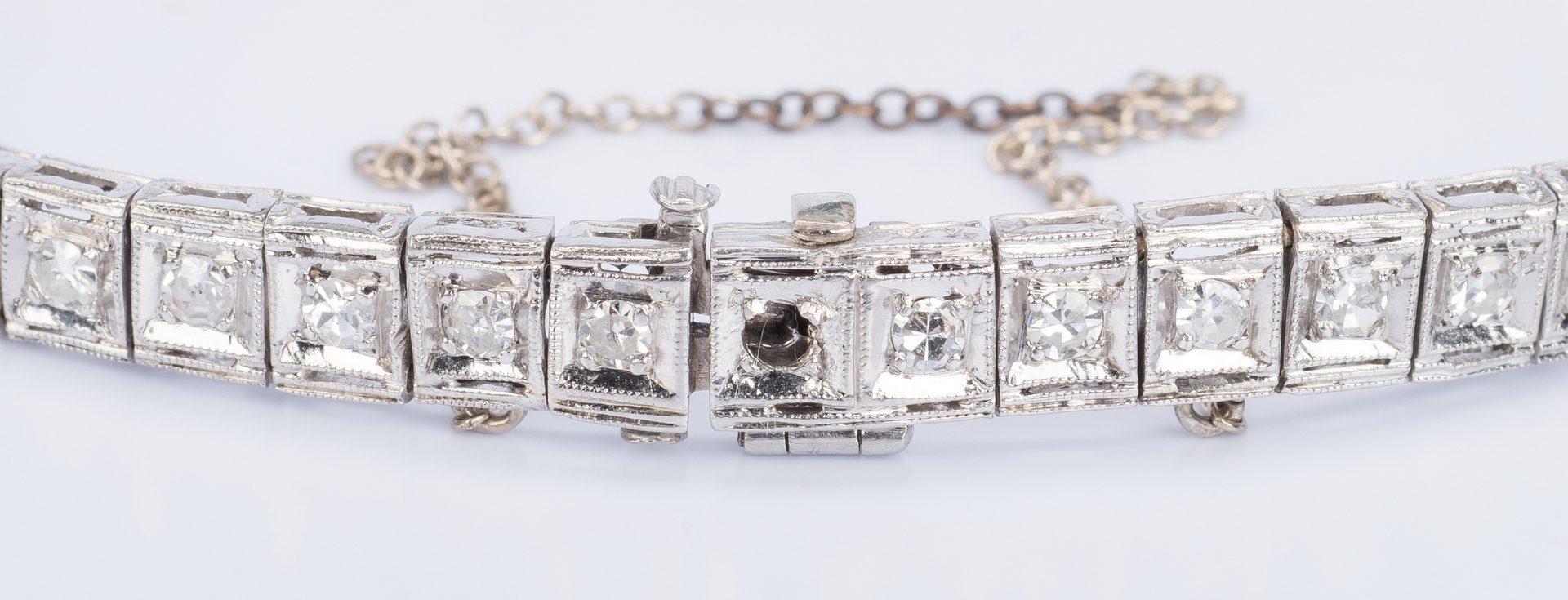 Lot 34: Art Deco Platinum Diamond Bracelet