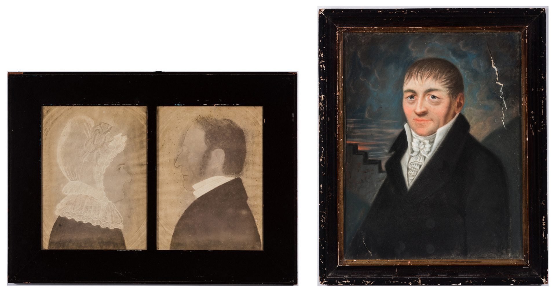 Lot 351: English or American School Decorative Portraits
