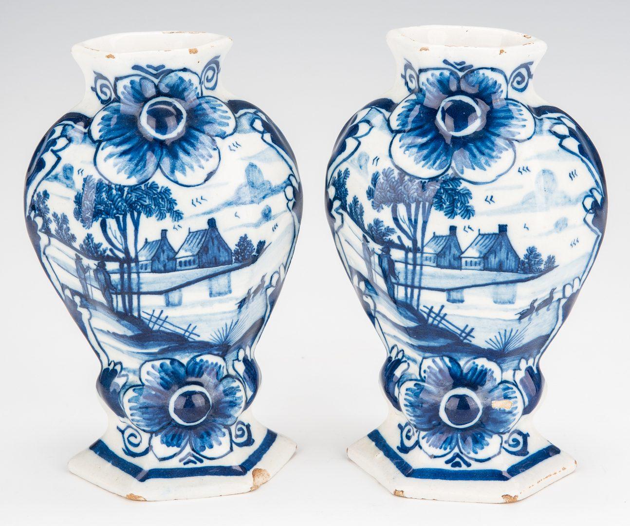 Lot 352: 5 Blue & White Ceramic Items, inc. Delft