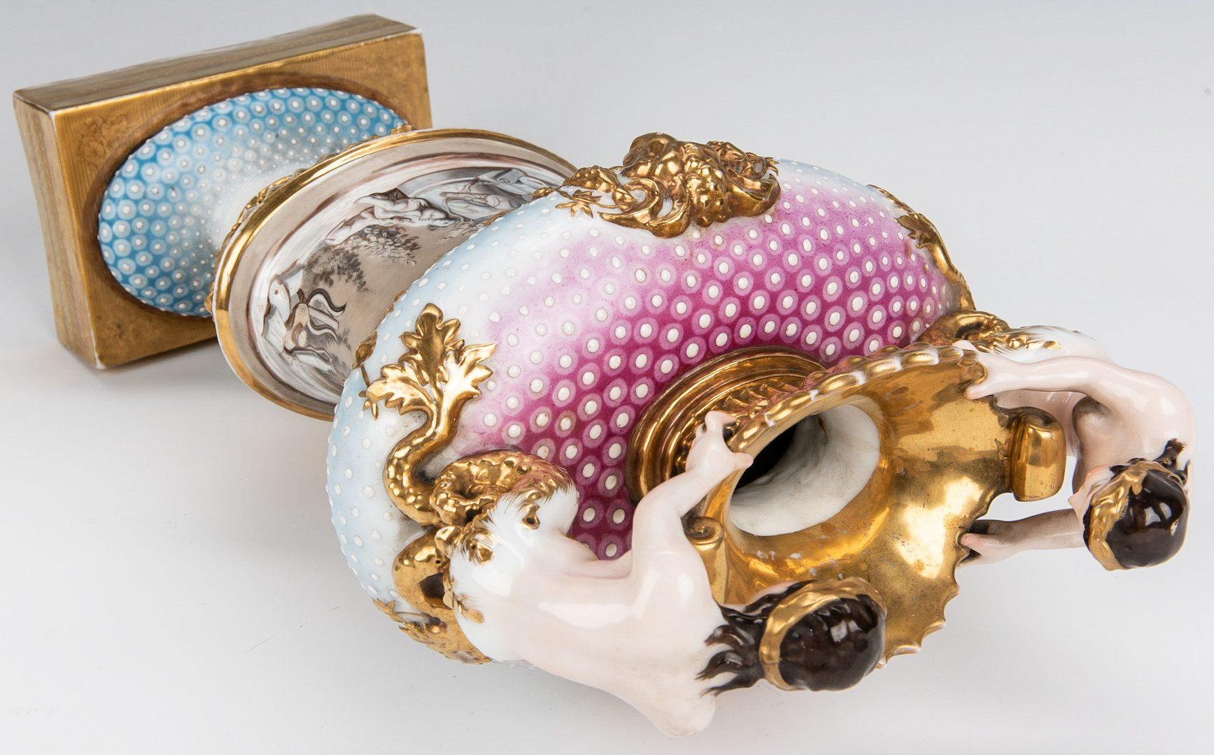 Lot 353: Pair Neoclassical Figural Urns