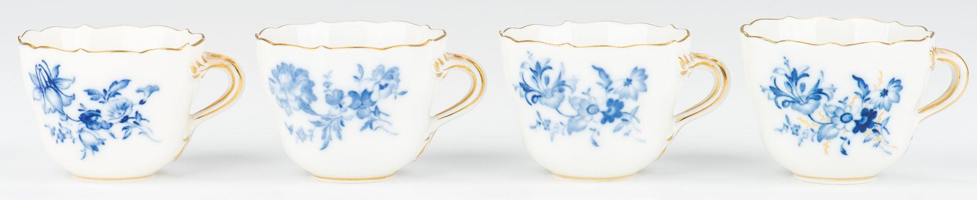 Lot 356: Set of Meissen Porcelain, 20th c.