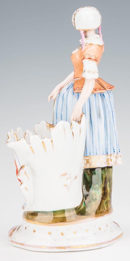 Lot 357: 5 European Porcelain & Pottery Figurines