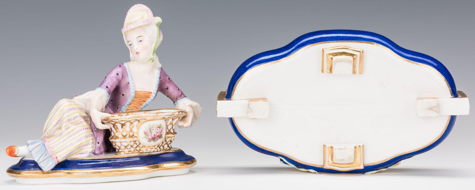Lot 358: Pair of Old Paris Figural Porcelain Boxes