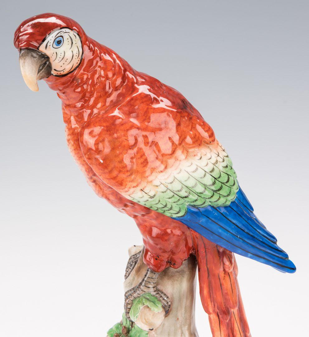 Lot 359: Pair of Continental Porcelain Parrots