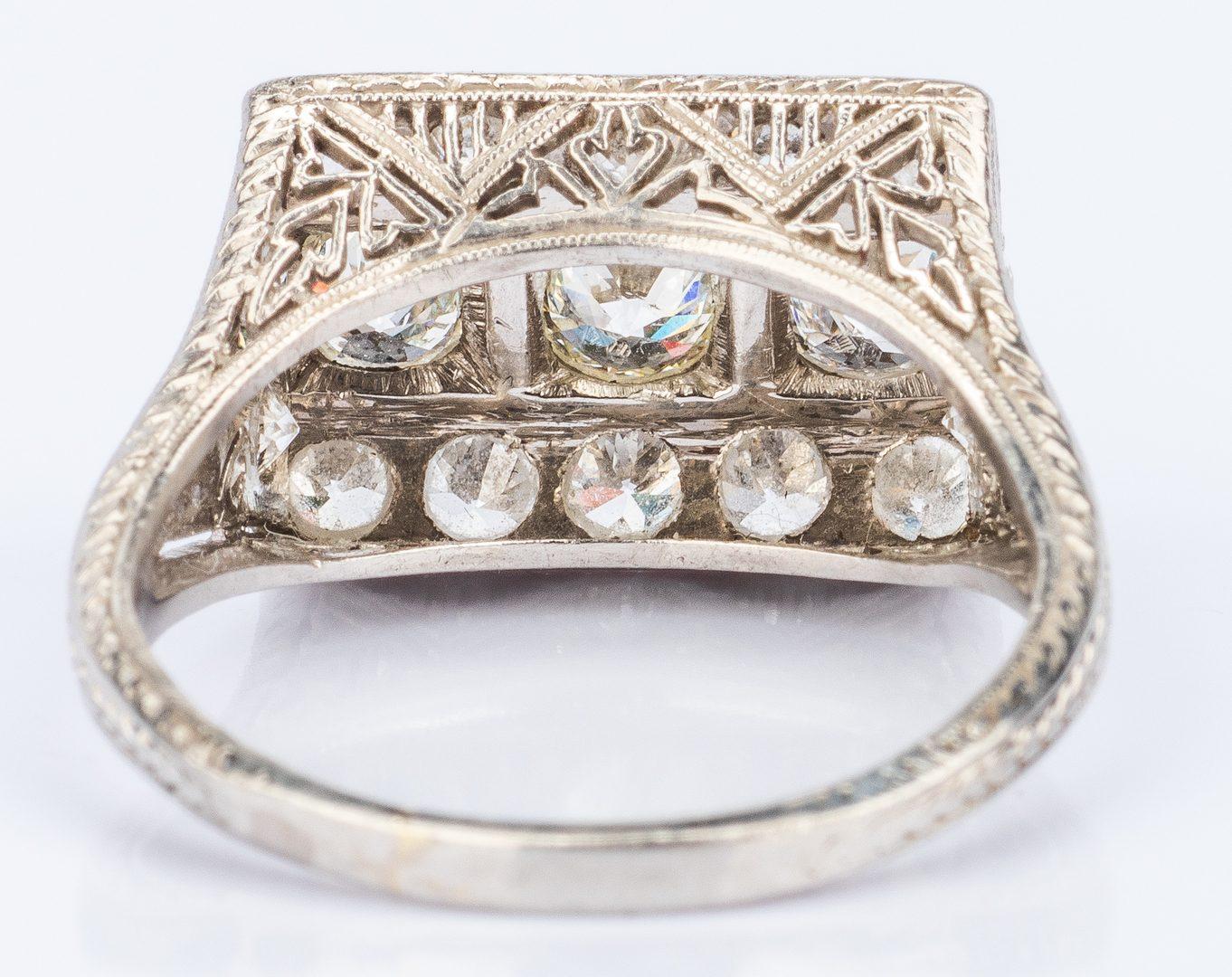 Lot 35: Art Deco Platinum Diamond Ring