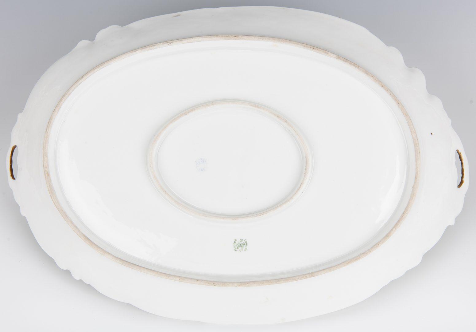 Lot 361: Limoges Porcelain Game Platter & Plates