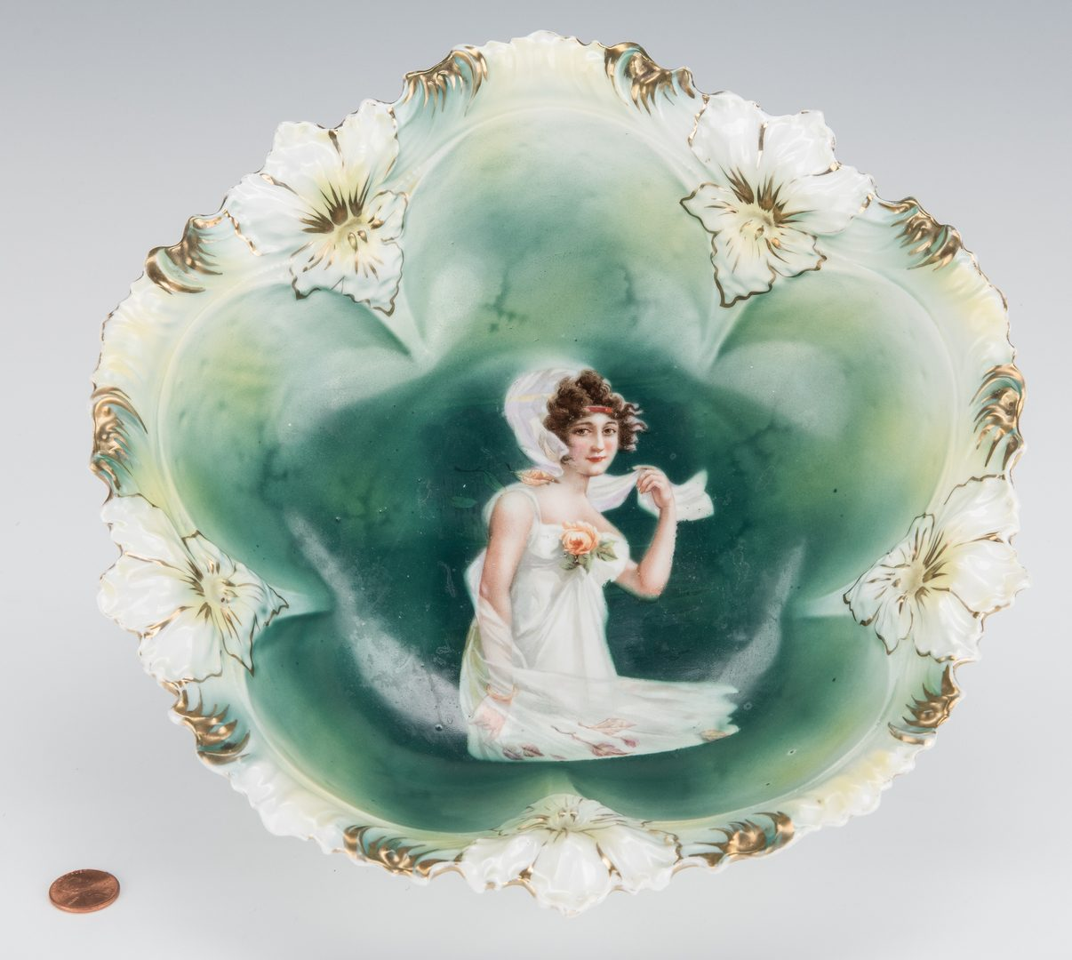 Lot 362: RS Prussia portrait bowl, Autumn