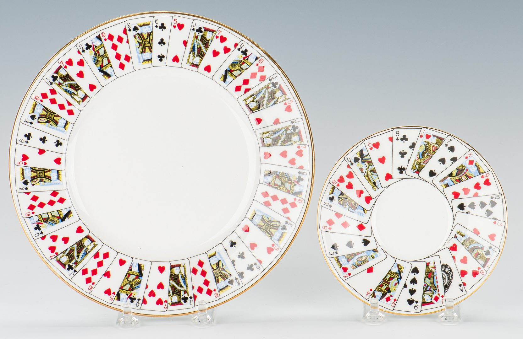 "Lot 364: Tiffany ""Playing Cards"" Dessert Set, 24 pcs."