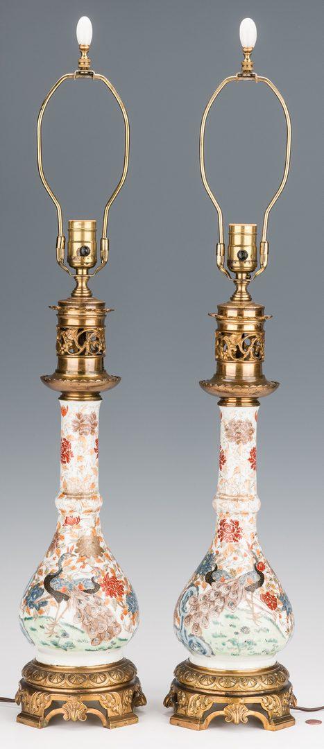Lot 365: Pair Asian Porcelain Lamps