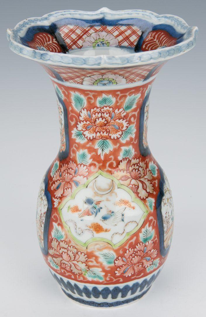 Lot 366: 2 Imari Porcelain Vases