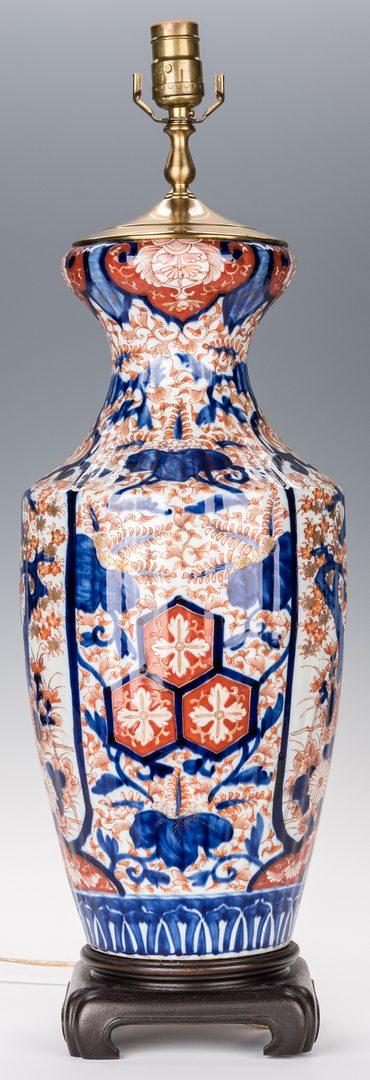 Lot 367: Japanese Imari Porcelain Lamp