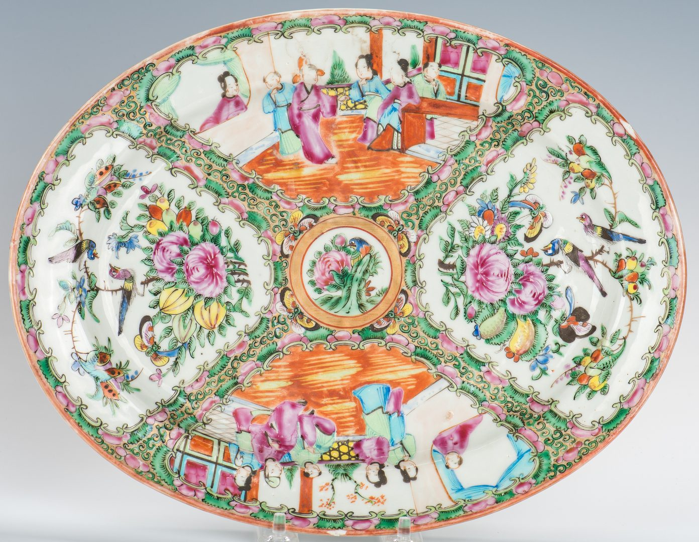 Lot 374: 8 Chinese Export Rose Medallion Table Items