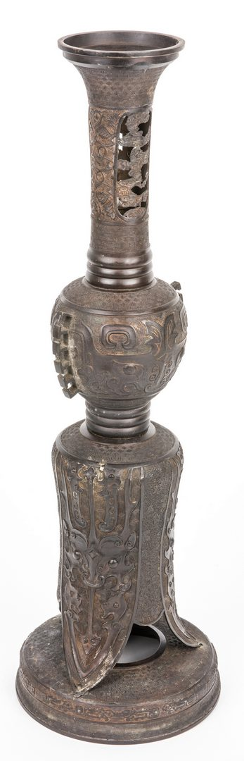 Lot 377: Chinese Bronze Ritual Pedestal- 3 pcs
