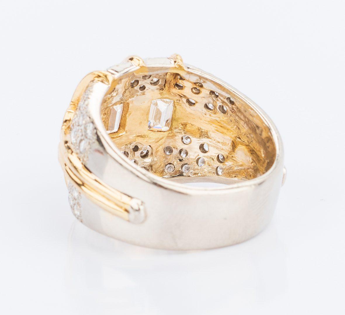 Lot 37: 14K/18K Gold Diamond Fashion Ring