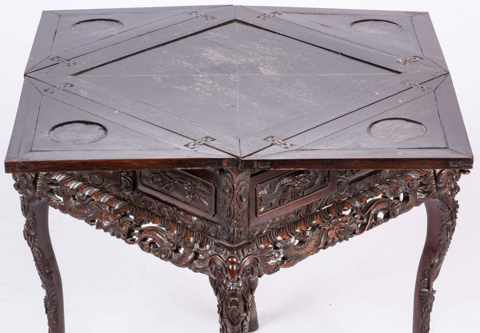 Lot 389: Chinese Hardwood Games Table