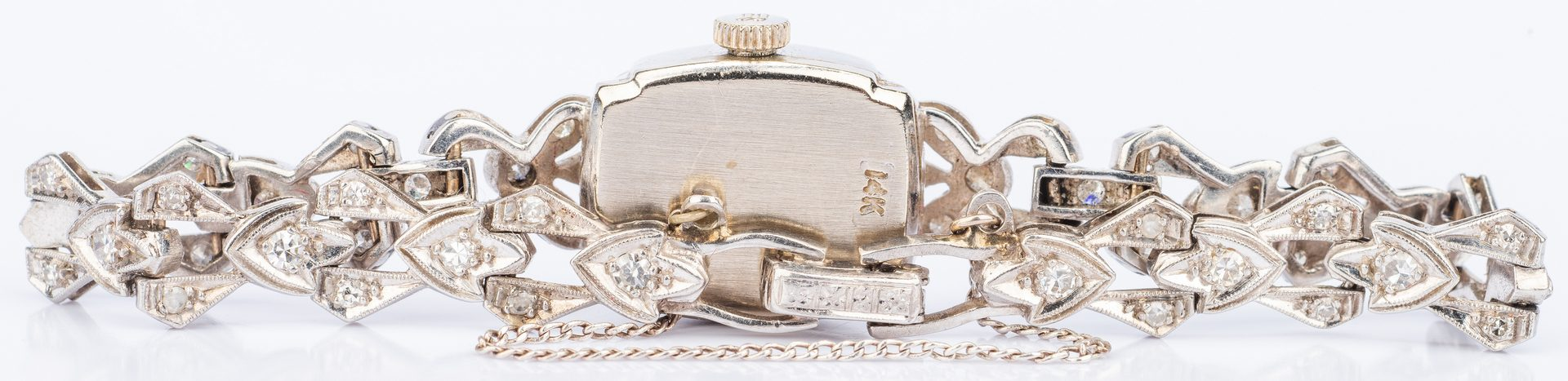 Lot 394: Ladies 14K Diamond Bracelet Watch