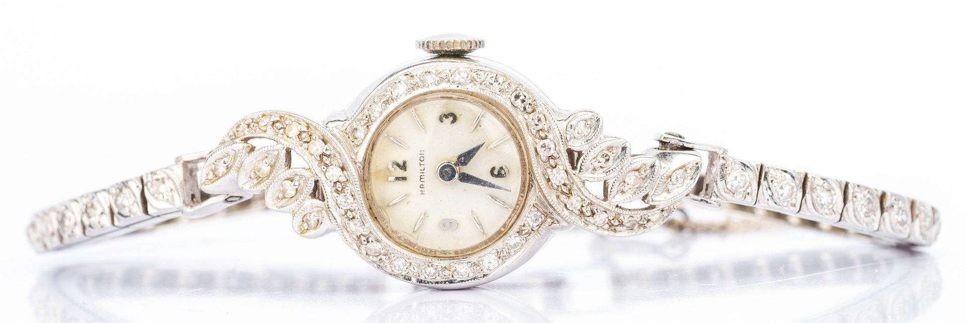 Lot 395: 2 Vintage Diamond Watches, Art Deco