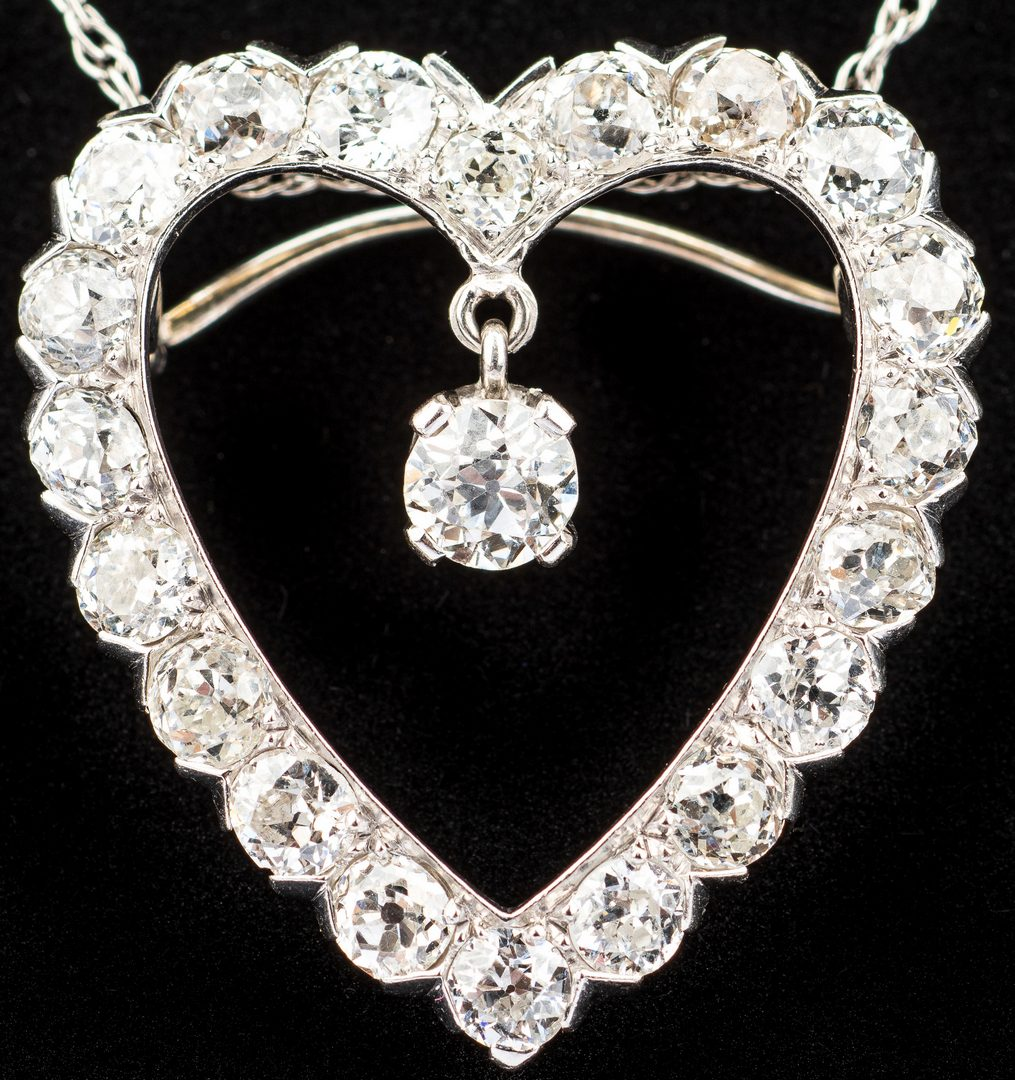 Lot 396: Diamond Heart Pendant, 3.26 ct t.w.