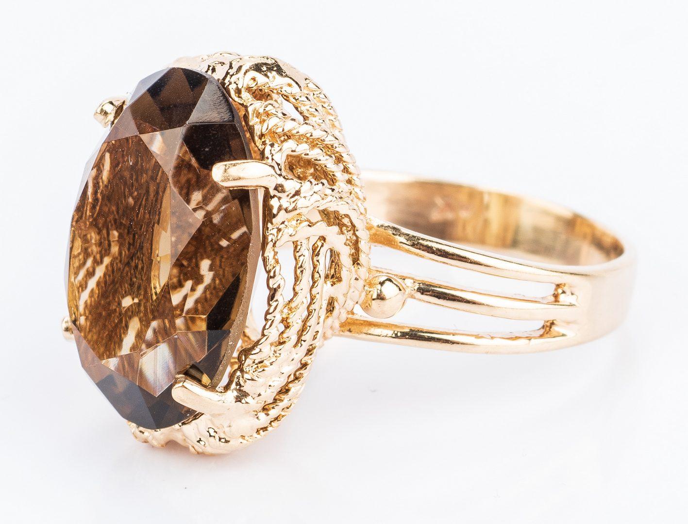 Lot 399: Group 6 14K Gemstone Rings