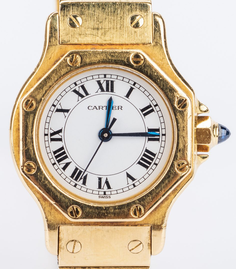 Lot 40: Cartier Lady's 18K Santos, 82.6 grams t.w.
