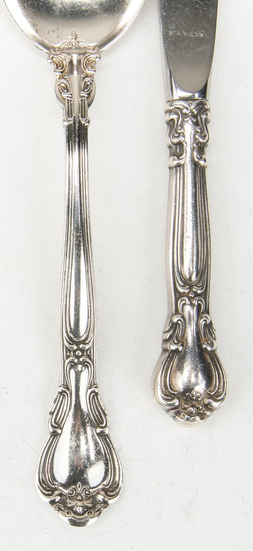 Lot 421: Gorham Chantilly Sterling Flatware, 72 pcs